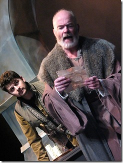 Benjamin Blais and Thomas Gough from Hart House production of King Lear