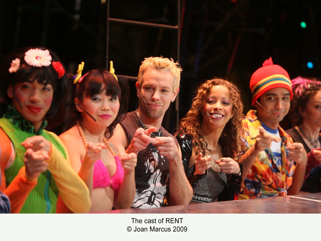 Cast of Rent by Joan Marcus