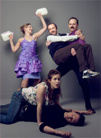 Caroline Grace Hall, Meaghen Quinn, Matt Wells, Jesse Bond and David Rossin Frances and Marybeth, Factory Theatre Toronto