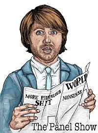 illustration of Ned Petrie for The Panel Show by Jeff Blackburn