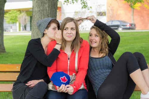 Cut Throat: The Isolation of Ambition at the 2015 Toronto Fringe Festival. Photo of Kandi Prosser (Left), Andrea Hluscu (Centre), Meghan Jones (Right)