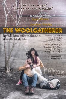 The Woolgatherer at the 2015 Toronto Fringe Festival. Poster photo of Kayla Whelan and Jonathan Shatzky