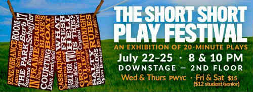 The Social Capital Theatre, Toronto presents The Short Short Play Festival, July 22-25, 2015