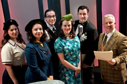 The cast of It's A Wonderful Life: A Live Radio Play