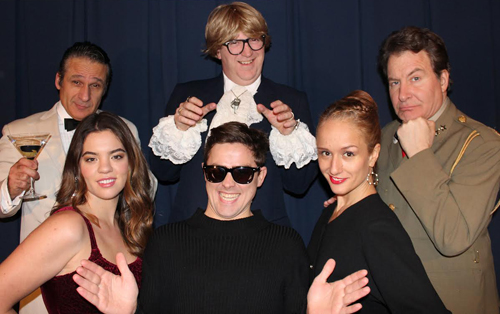 Photo of Tom Melissis, Ken MacDougall, Danny Wengle, Clare Preuss, Simon Esler, and Miriam Drysdale from Spy School Mission Ridiculous