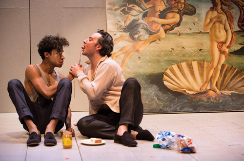 Photo of Stephen Jackman-Torkoff and Salvatore Antonio in Botticelli in the Fire by Cylla von Tiedemann