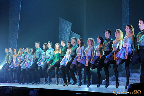 Photo of the Riverdance troupe by Jack Hartin