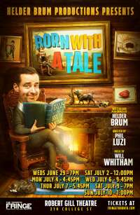 Poster for fringe show Born With a Tale