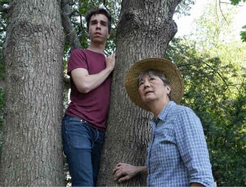 Chase Jeffels, playing Richard the boy, and Brenda Kamino, playing Alice Friedenhammer.
