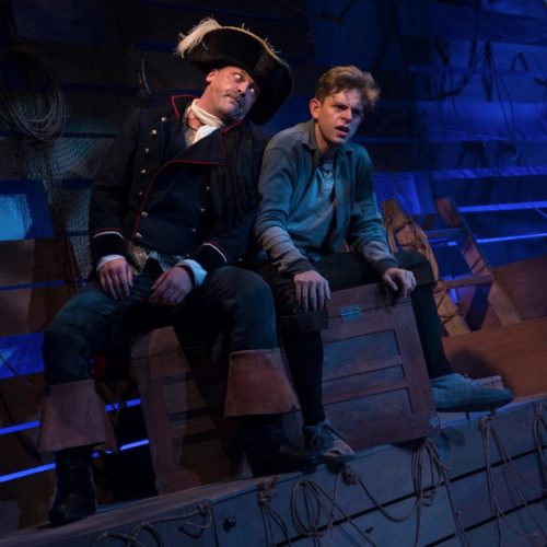 Jason Gray as Black Stache and Nathaniel Kinghan as Peter