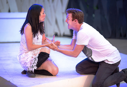 Photo of Rose Tuong and Frank Cox O'Connell in HAMLET by Cylla von Tiedemann