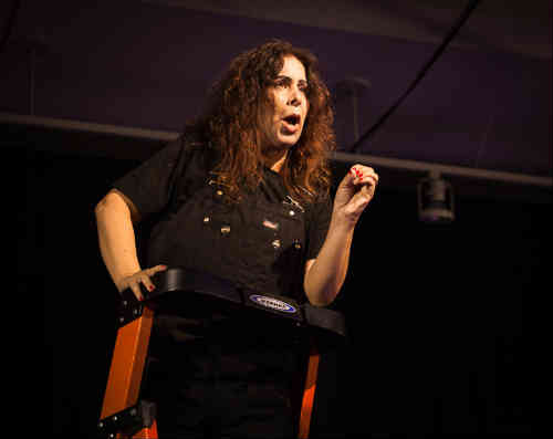 Photo of Helena Levitt as Andrea Dworkin
