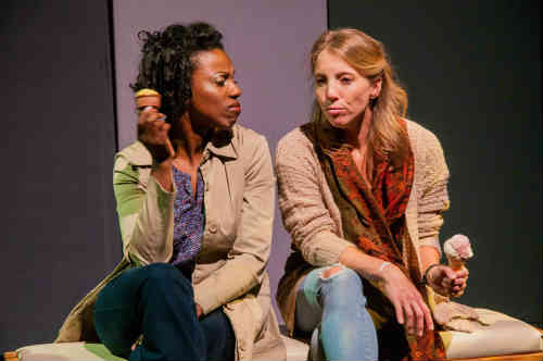 Performers Audra Gray and Amanda Jane Smith discussing life in THIS.