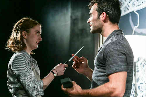Performers Erin Humphry and Johnathan Sousa in Breathing Corpses