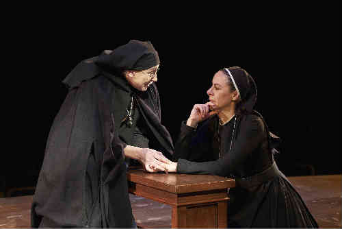 "Two performers in ""Measure for Measure."""
