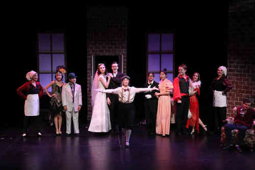 The cast of The Drowsy Chaperone, No Strings Thetre production, at Tarragon Theatre.