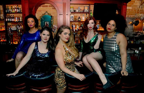 The female cast of Lysistrata. L to R: Amanda Lundgren, Brittany Cope, Stella Saint, Amanda McKnight, Jenna FC