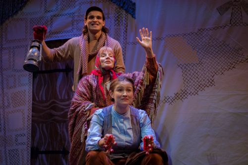 Gabriel Gagnon, Nicole St. Martin and Morgan Yamada in Bello at YPT