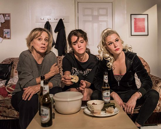 Fiona Reid, Claire Burn and Anne van Leeuwen in The Chance