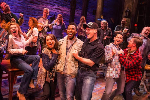 Photo of the cast of Come From Away in Toronto by Matthew Murphy
