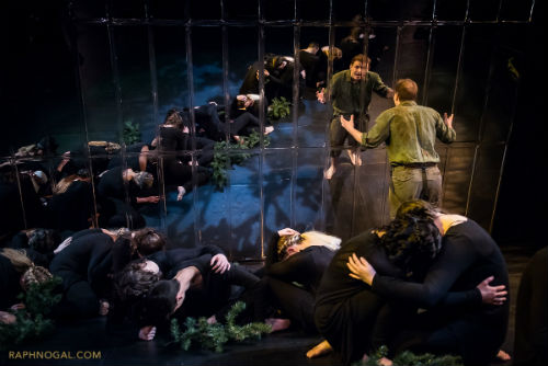 Andrew Eldridge and cast in Peer Gynt