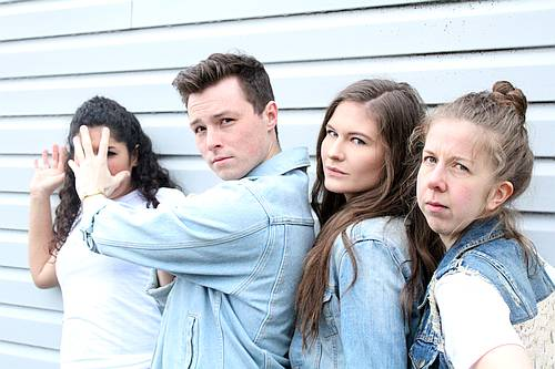 Photo of Brittany Miranda, John Wamsley, Charlin McIsaac and Madeleine Brown in Everyone Wants a T-Shirt