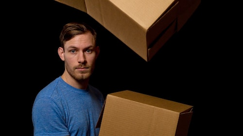 Photo of Cory Thibert in Awkward Hug by Log Creative
