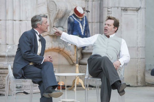 Photo of David John Phillips and Shane Carty in Pygmalion