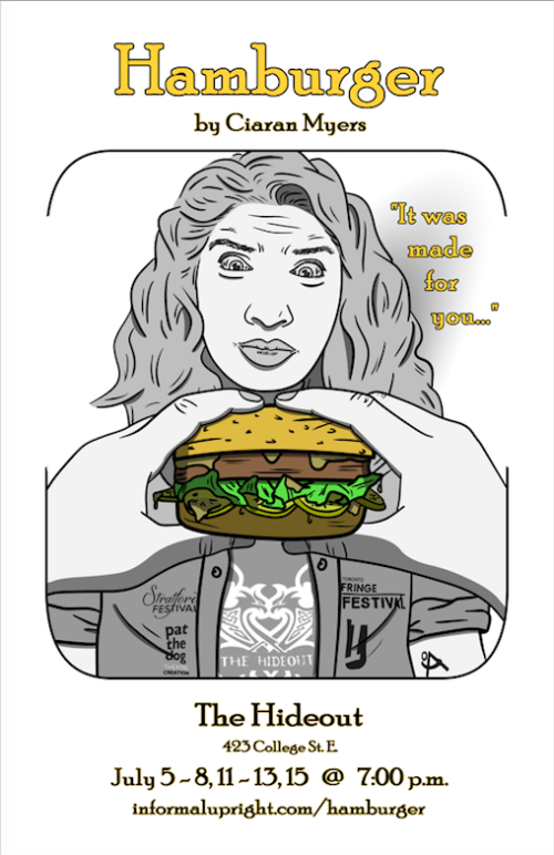 Poster featuring a likeness of Mina James in Hamburger