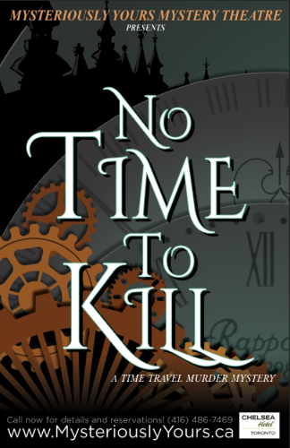 Clockwork background with the words No Time To Kill on it.