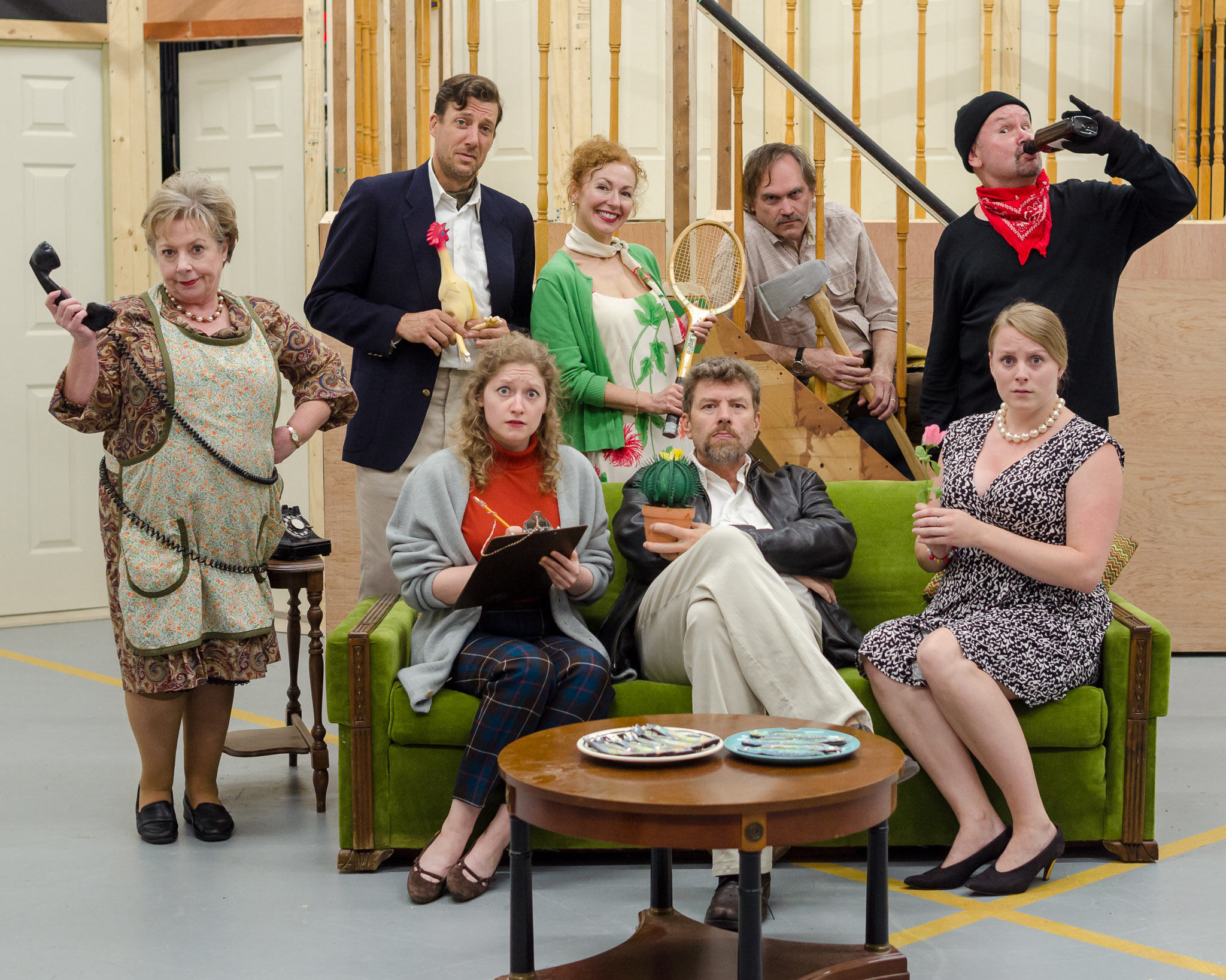 photo of Noises Off cast