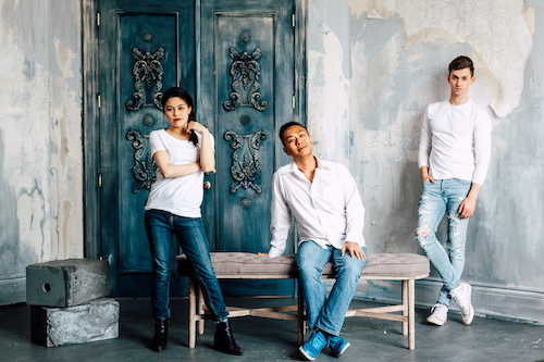 Photo of Loretta Yu, Richard Tse, and Stephen Tracey by Randy Bui