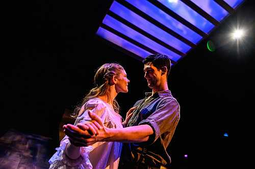 Kate Ross and Fraser Elsdon Dancing in Mary's Wedding at Streetcar Crowsnest Feb 2019