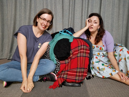 Photo of Dale Boyer, Amanda Barker in Clotheswap, photo by Bryan Cacciatore