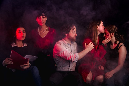 Photo of Esther Vlessing, Felicia Valenti, Jonathan Widdifield, Breanna Maloney, and Cassandra Davidson in Ether by