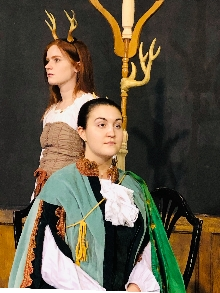 Photo of Marie-Pier Jean and Molly Rumball in KING STAG. Photo by Matthew Walker