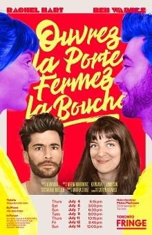 Rachel Hart and Ben Wardle in Ouvrez La Porte, Fermez La Bouche
