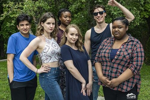 Picture of Rami Khan, Alyssa Pothier, Natalie Morgan, Terri Pimblett, Aris Tyros, and Tatyanna Mitchel in Deep End