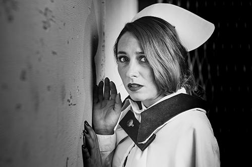 Photo of Elisa Benzer as Eusha in the 2019 Toronto Fringe Festival