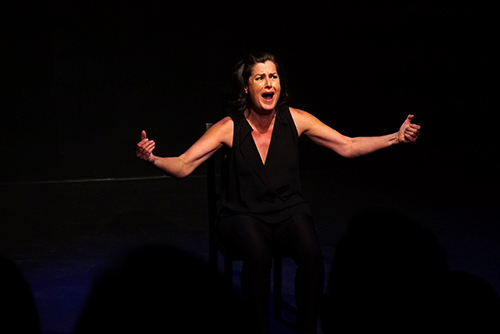 Cathy Schenkelberg in Squeeze My Cans at the 2019 Toronto Fringe Festival