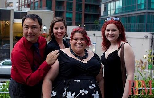 photo of Wayne Leung, Carly Maga, Megan Mooney and Kelly Cameron at the Dora Awards in 2011 by Rachel McCaig