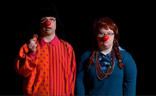 Photo of Andreas Prinz and R. Boardman in Red Knows: A Play on Words by Matt Rawlins