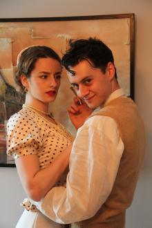 Photo of a female and male cast member of Reefer Madness