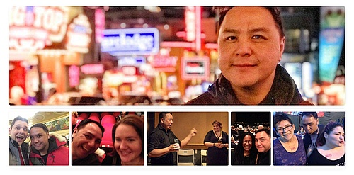 collage of photos of Wayne Leung for a memorial post on Mooney on Theatre
