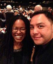 Wayne Leung and Keira Grant enjoying the opera together