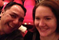 Blurry but joyous Wayne Leung and Kelly Cameron enjoying a show