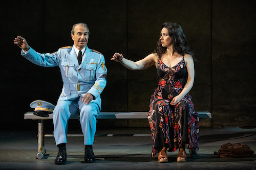 Photo of Sasson Gabay and Chilina Kennedy in The Band's Visit by Matthew Murphy