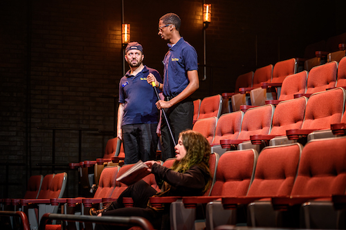 Photo of Colin Doyle, Durae McFarlane and Amy Keating in The Flick by Dahlia Katz