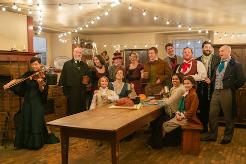 Photo of the cast of A Christmas Carol by Laura Dittman