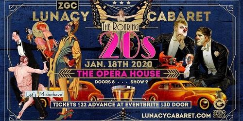 poster for lunacy cabaret